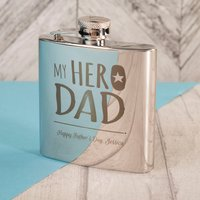 Engraved Stainless Steel Hip Flask - My Hero Dad - Hip Flask Gifts
