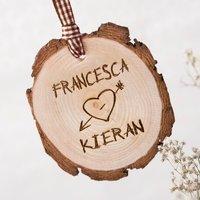 Personalised Tree Carving Hanging Wooden Keepsake - Keepsake Gifts