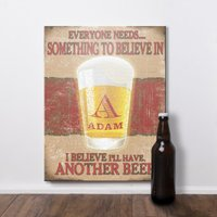 Personalised 'Another Beer' Wooden Hanging Sign - Beer Gifts