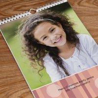 'Photo Upload Calendar - Pink Stripes