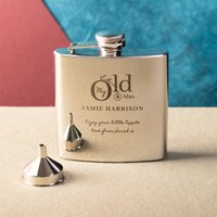 Engraved Stainless Steel Hip Flask - My Old Man - Hip Flask Gifts