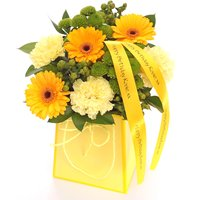 Image of Personalised Floral Yellow Gift Bag