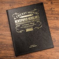Personalised Sports Book - International Cricket - Cricket Gifts