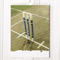 Personalised Cricket Calendar - 1st Edition - Cricket Gifts