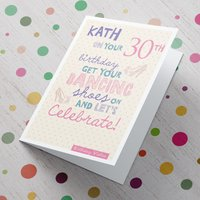 Personalised Card - Get Your Dancing Shoes On - Dancing Gifts