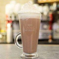 Engraved Glass Hot Chocolate Mug - Loves Hot Chocolate Balloons - Hot Chocolate Gifts