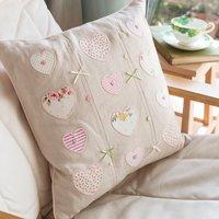 Personalised Hearts & Bows Cushion - Bows Gifts