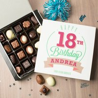 Personalised Belgian Chocolates - Happy 18th Birthday