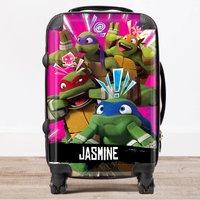Personalised Children's Trolley Suitcase - Teenage Mutant Ninja Turtles, Pink - Ninja Gifts