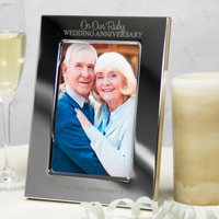 Personalised Silver-Plated Photo Frame - Ruby Wedding Anniversary - Wedding Anniversary Gifts
