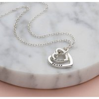 Personalised Posh Totty Designs Mummy And Baby Heart Necklace - Posh Gifts
