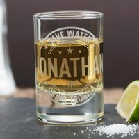 Personalised Shot Glass With Miniature - Save Water - Shot Glass Gifts