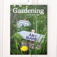 Personalised Gardening Calendar - New Edition - Gardening Gifts