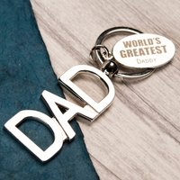 Personalised Key Ring - World's Greatest Dad - Key Ring Gifts