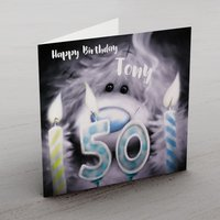 Personalised Me To You Card - 50 Candles - Seek Gifts