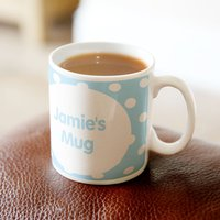 Personalised Mug - Polka Dot Blue - Polka Dot Gifts