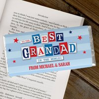 Personalised Chocolate Bar - To The Best Grandad In The World - Grandad Gifts