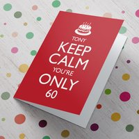 Personalised Keep Calm Card - 60th Birthday - 60th Birthday Gifts
