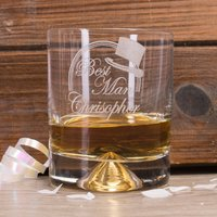 Personalised Stern Whisky Glass - Best Man Top Hat - Best Man Gifts
