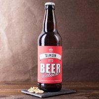 Personalised Beer - It's Beer O'Clock - Beer Gifts