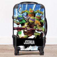 Personalised Children's Trolley Suitcase - Teenage Mutant Ninja Turtles, Blue - Teenage Mutant Ninja Turtles Gifts
