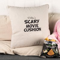 Personalised Natural Cushion - Scary Movie Cushion - Scary Gifts