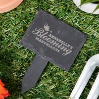Image of Engraved Slate Plant Marker - Blooming Marvellous