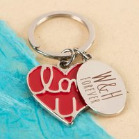 Personalised Key Ring - Red Heart Love You - Key Ring Gifts