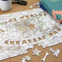 Personalised World's Greatest Dad Jigsaw Puzzle - Jigsaw Puzzle Gifts