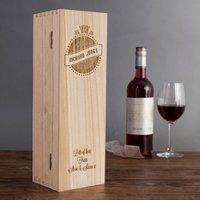 Personalised Luxury Wooden Wine Box - Birthday Design - Design Gifts