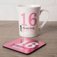 16th Birthday Mug And Coaster Set - Dancing Queen - Getting Personal Gifts
