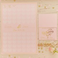 Pastel Perfection A3 Heart Guest Book Poster - Book Gifts