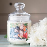 Personalised Deluxe Jar Candle - Photo Upload - Candle Gifts