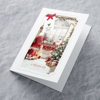 Personalised Christmas Card - Presents By The Window - Presents Gifts