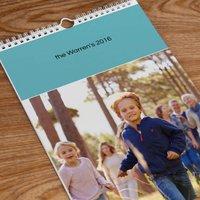 'Photo Upload Calendar - Teal Top