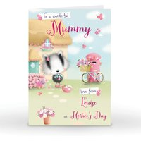 Image of Personalised Mother's Day Card - To A Wonderful Mummy