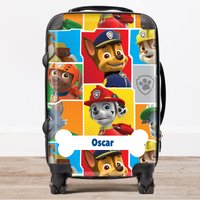 Personalised Children's Trolley Suitcase - Paw Patrol, Multi - Paw Patrol Gifts