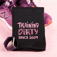 Personalised Micro Velour Sports Towel - Training Dirty - Towel Gifts