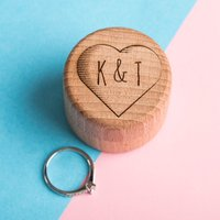 Personalised Wooden Heart Ring Holder - Ring Gifts