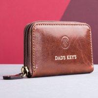 Embossed Vinci Italian Leather Key Case - Italian Gifts