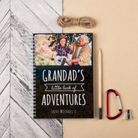 Photo Upload Notebook - Grandad's Little Book Of Adventures - Book Gifts