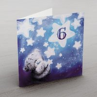 Personalised Me To You Card - Any Age Stars Blue - Me To You Gifts