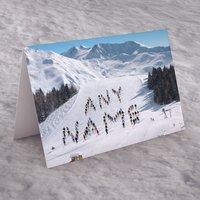 Personalised Card - Ski Slope - Ski Gifts