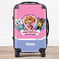 Personalised Children's Trolley Suitcase - Paw Patrol, Pink - Paw Patrol Gifts