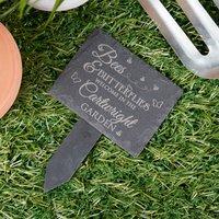 Engraved Slate Plant Marker - Bees & Butterflies - Butterflies Gifts