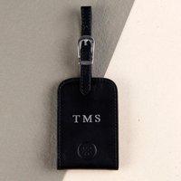 Embossed Ledro Italian Leather Luggage Tag - Italian Gifts