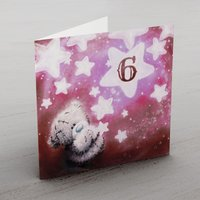 Personalised Me To You Card - Any Age Pink Stars - Me To You Gifts