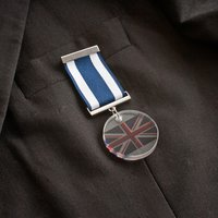 Spaceform Glass Medal - Union Jack - Union Jack Gifts