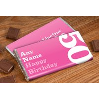 Personalised Chocolate Bar - 50th Birthday for Her - 50th Gifts
