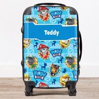 Personalised Children's Trolley Suitcase - Paw Patrol, Blue - Paw Patrol Gifts